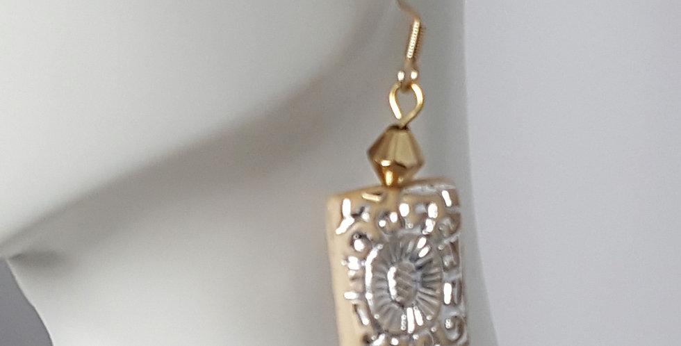 Acrylic Gold & Silver Rectangle