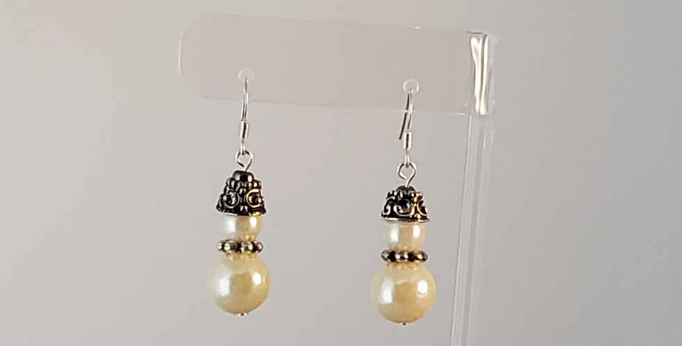 Snowman in Fez Hat Earrings