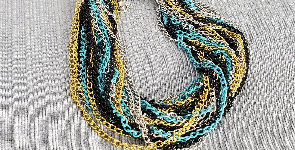 Chain Bracelet - Teal, Black, Silver, Gold