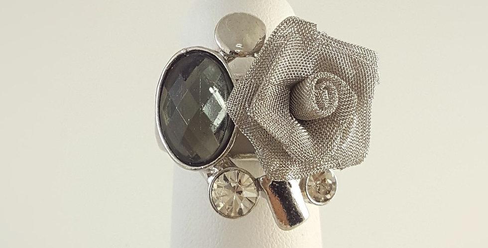 Swarovski Woven Mesh Rose Ring