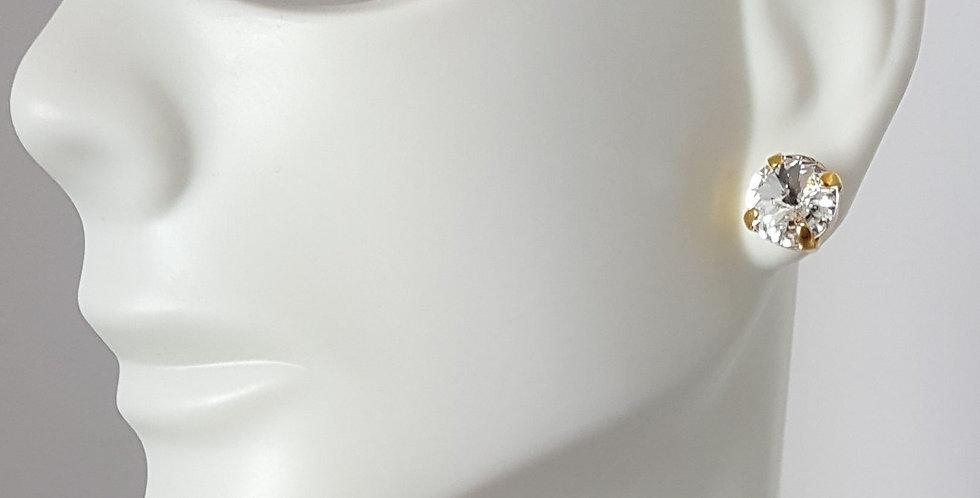 SS39 Swarovski Earrings- Gold Clear