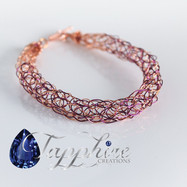 Knitted Copper Purple Bracelet