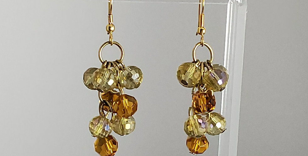 Amber Cluster Dangle