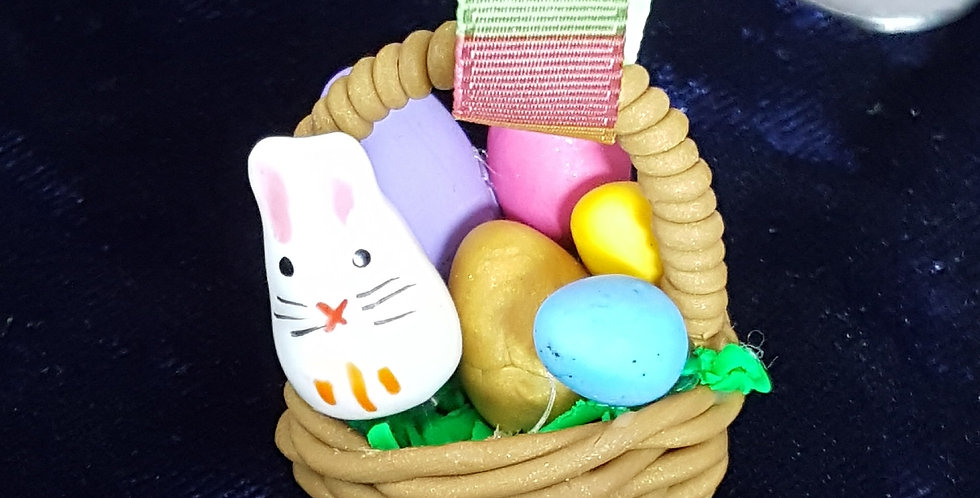 Handmade Polymer Clay Easter Basket