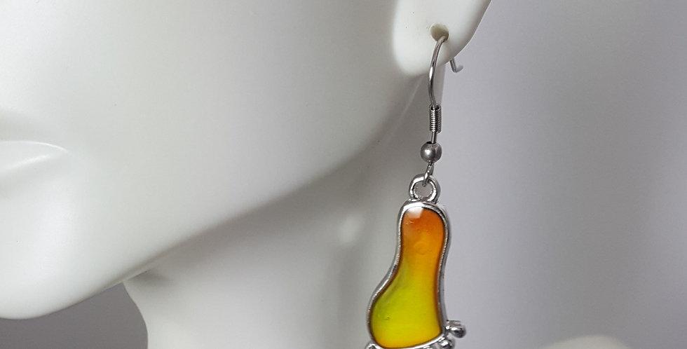 Color Changing BigFoot Print Earrings