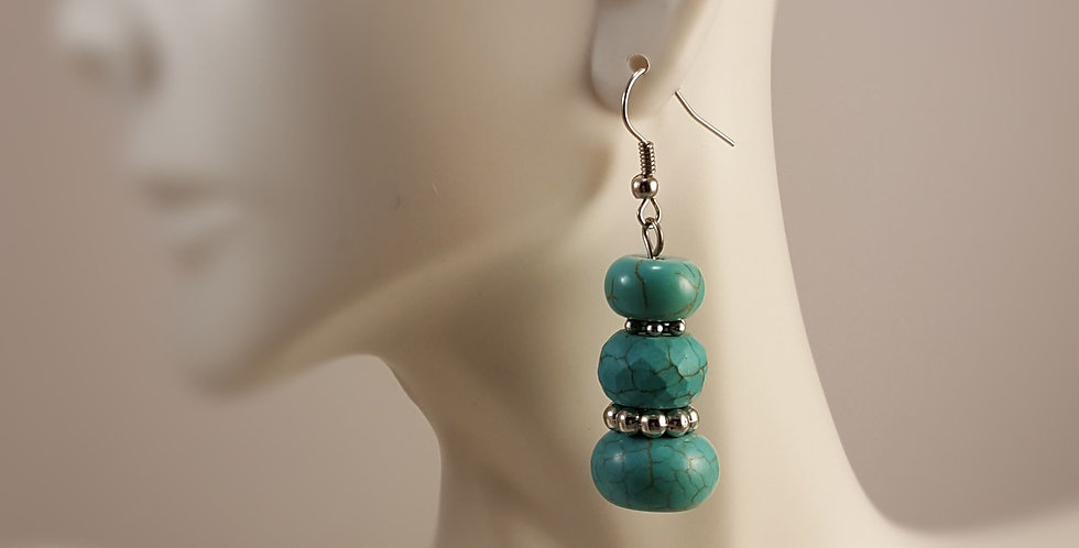 Magnesite Stacked Earrings