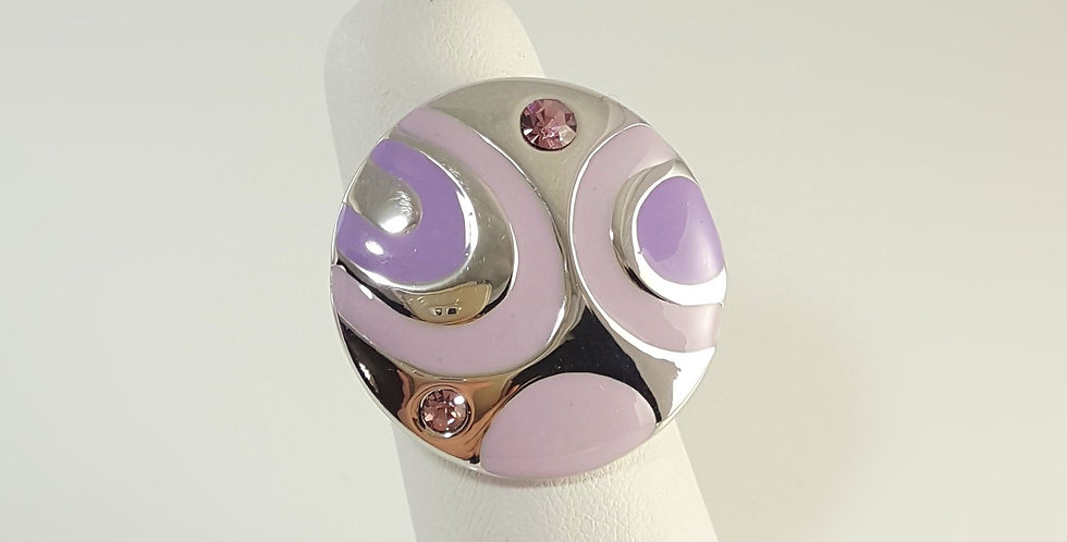Lavender Circle Ring