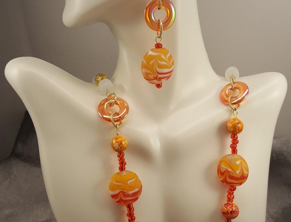Vintage Glass Lampwork Necklace Set