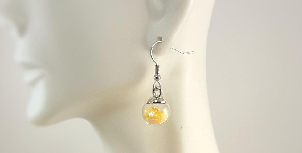 Mini Confetti Glass Earrings - Yellow