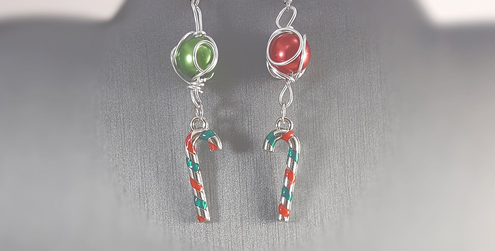 Christmas Candy Canes Earrings