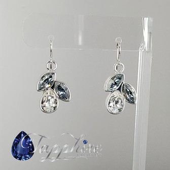 Swarovski Raindrop - Clear and Misty Blue