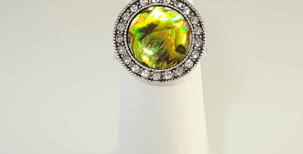 Paua Shell Ring - Yellow