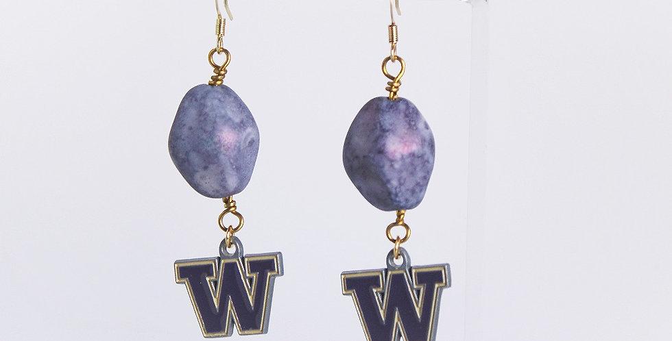 University of Washington Huskies Earrings