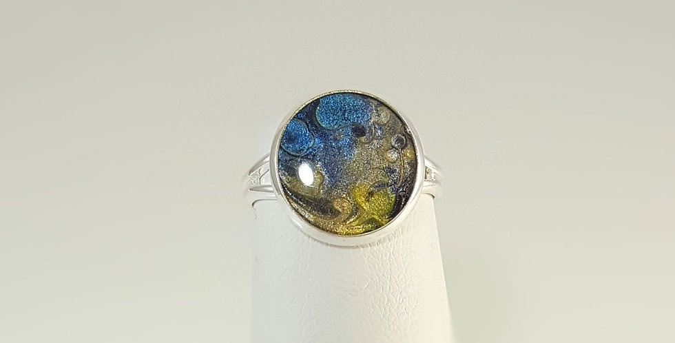 """Polymer Clay """"Stone"""" Ring"""