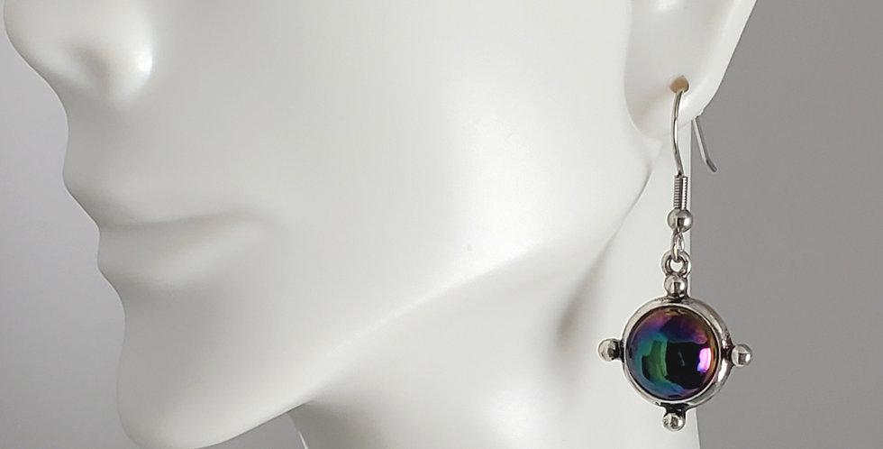 Irridescent Compass Earrings