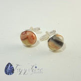 Crazy Lace Agate Cuff Links
