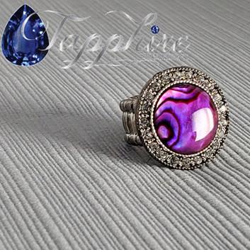 Paua Shell Ring - Pink