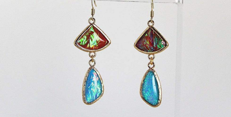Opalized Ice™ Earrings - Duo Color