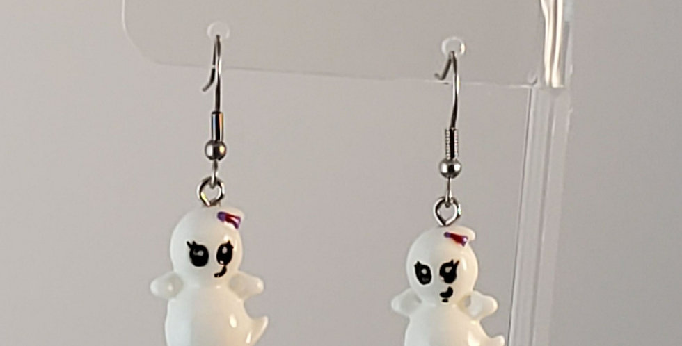 Lampwork Glass Ghosts Earrings