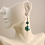 Thumbnail: Marbled Millefiori Glass Necklace and Earrings Set - Teal
