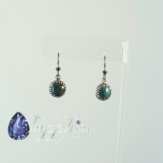 Turquoise Sterling Silver Niobium Earrings