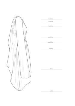 Luxury Sustainable Fashion Designer  - Technical drawing