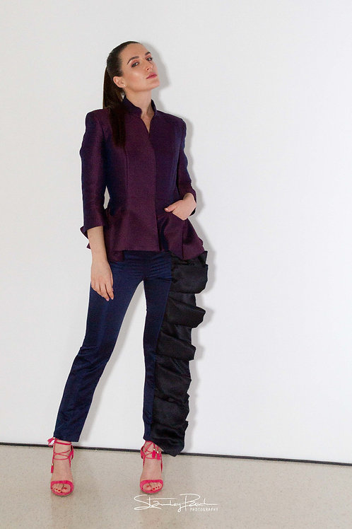 Tailored Pants with Ruffle
