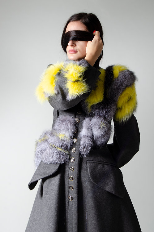 """Mossy"" Cashmere Coat"