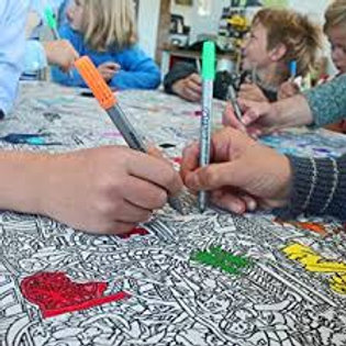 Fun at the Zoo - Colour In Tablecloth