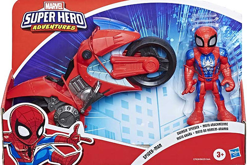 Sha Mega Mini Motorcycle Spiderman