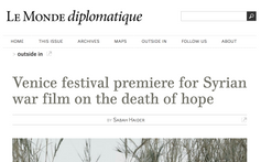 Le Monde Diplomatique: Interview with Syrian filmmaker Soudade Kaadan about  the story behind her fi