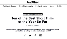 "Ruby Pasha: ""Ten of the best short films of the Year so far"""