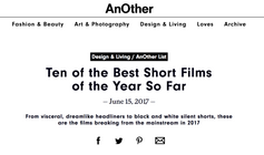 """Ruby Pasha: """"Ten of the best shortfilms of the Year so far"""""""