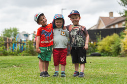 Outdoors with friends at nursery