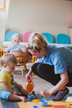 Imaginative play with toddlers and babies at Ridgemount Cottage Nursery