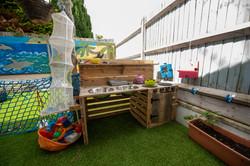 Toddlers' mud kitchen at nursery