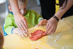 Learnign through sensory play