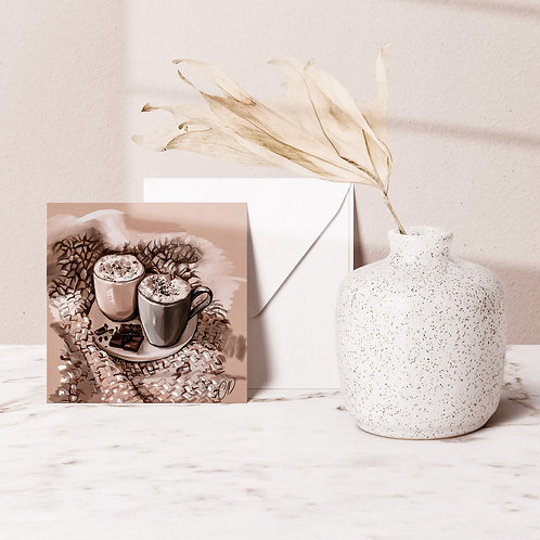 COZY MOMENTS greeting card