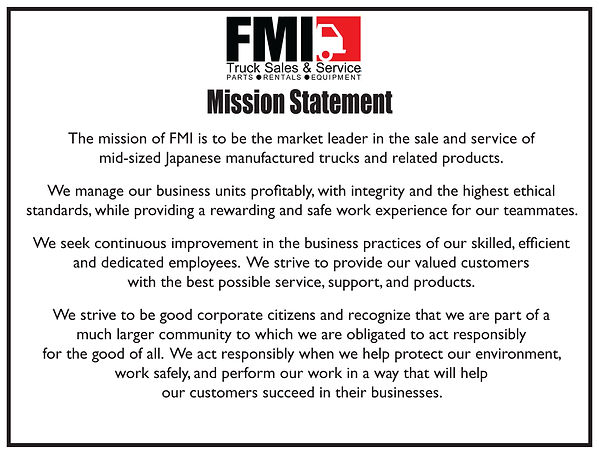 FMI Mission Statement