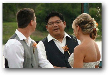 Pastor Caesar Evangelista ties the knot for a California couple.