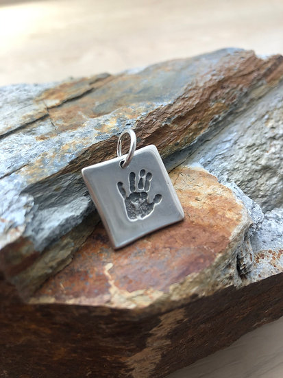 Hand/Foot/Paw Print Pendant (Extra Large)