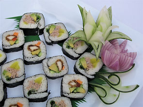 sushi and vegetable carving.jpg