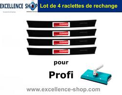 4 Raclettes pour Speed Cleaner Profi