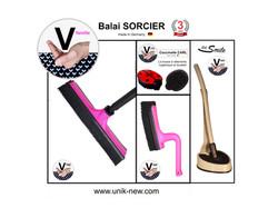 Kit Complet Balai SORCIER famille rose :