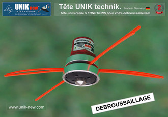 Débroussailler avec Tête UNIK technik 5 Fonctions.