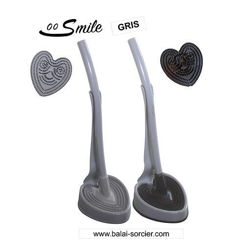 SMILE V600 picots gris. Brosse toilettes Balai SORCIER.