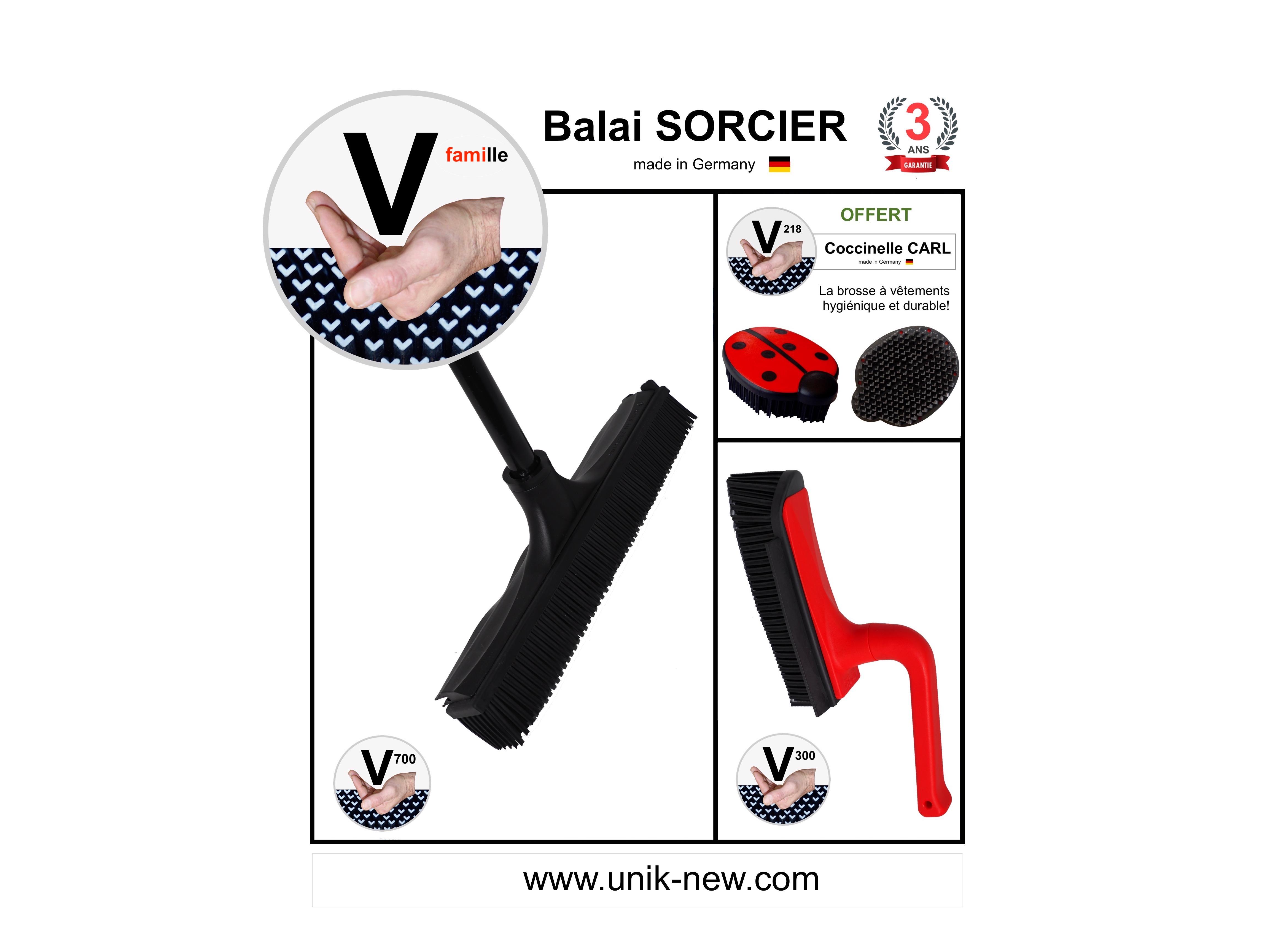 Kit Balai SORCIER V famille rouge et noir