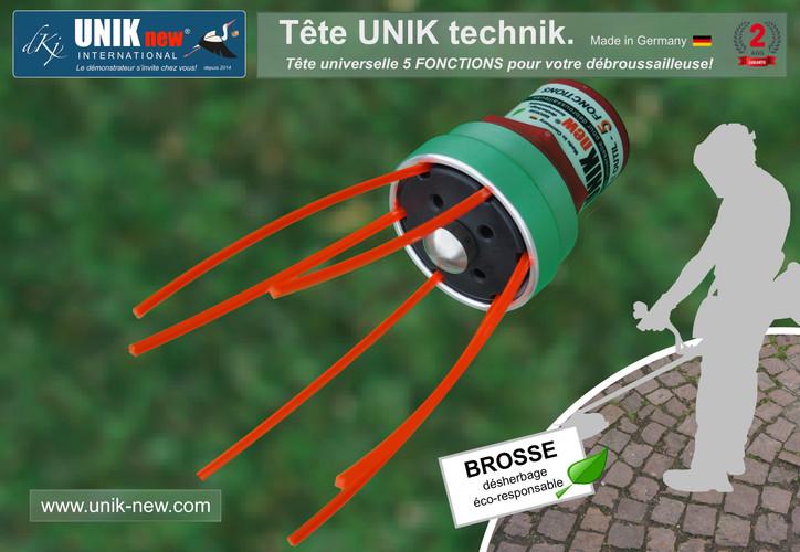 Tête de débroussailleuse universelle UNIK fonction Brosse de désherbage