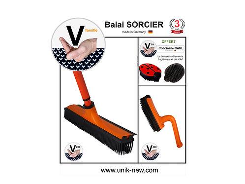 Balai SORCIER Kit V famille orange