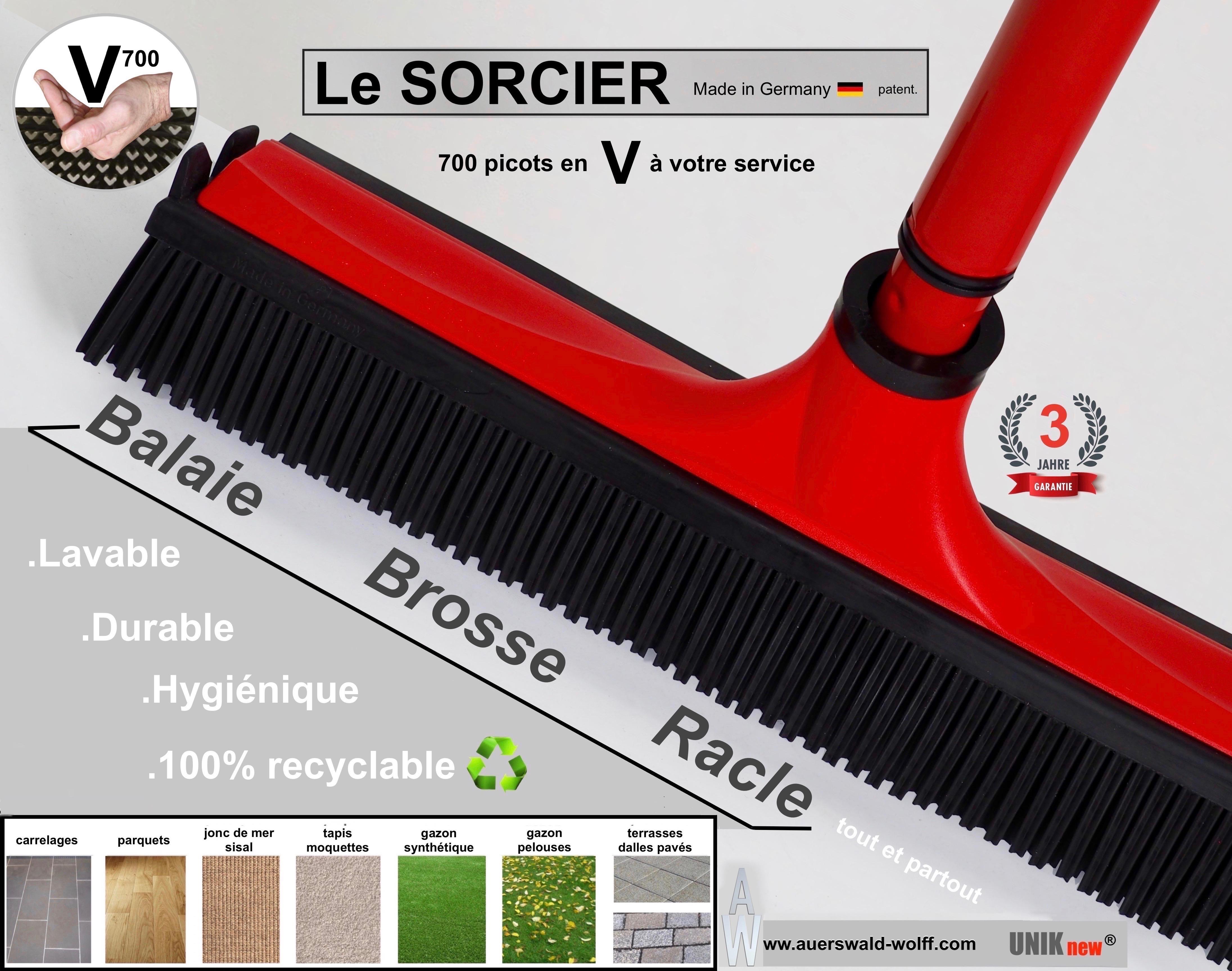 Balai SORCIER V700 rouge qualité pro